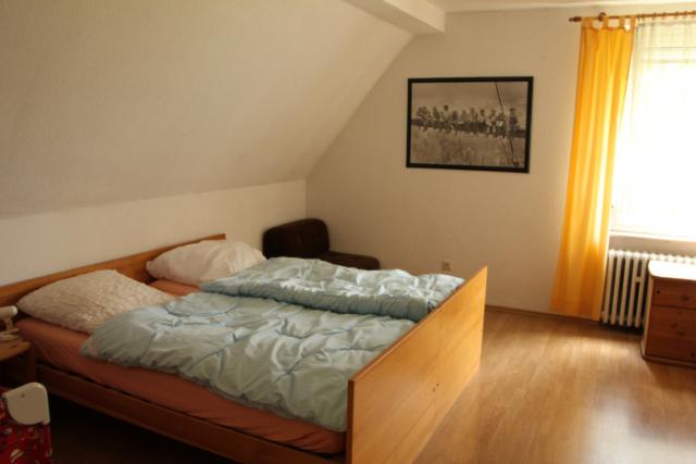 Ein Schlafzimmer …