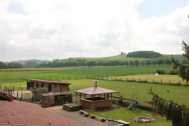 Blick aus dem Haus